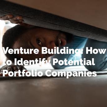 Venture Building: How to Identify Potential Portfolio Companies